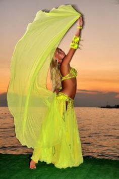 yellow belly dancing costume