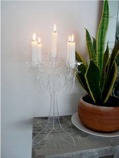 Acrylic candelabra