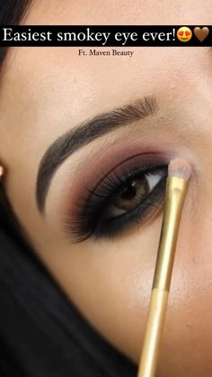 Black Smokey Eye Makeup, Soft Eye Makeup, Bronze Eye Makeup, Eye Makeup Art, Simple Eye Makeup, Beauty Makeup, Casual Eye Makeup, Daytime Eye Makeup, Smokey Eyeshadow
