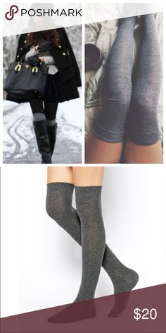 Gray Over The Knee Socks! Super Chic and on trend! wear alone or with boots/booties for extra warmth. 🌟profile pic is styling idea only🌟 Chinese Laundry Accessories Hosiery & Socks