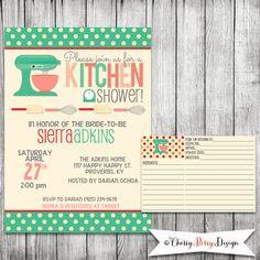 Kitchen Bridal Shower Invitation Printable by CherryBerryDesign, $15.00