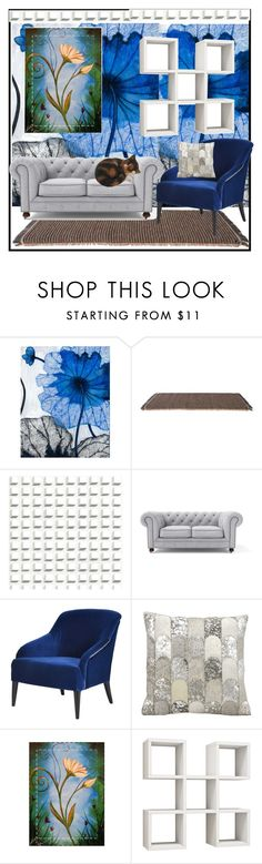 """Floral"" by jeneric2015 ❤ liked on Polyvore featuring interior, interiors, interior design, home, home decor, interior decorating, Grandin Road, Kettal, Cole & Son and Kathy Ireland"
