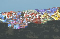 "Haas&Hahn, Vila Cruzeiro: study sketch for ""Favela Painting is Back to Rio"""