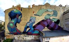 Best Graffiti & Amazing Street Art - Aryz in Lodz, Poland 2012