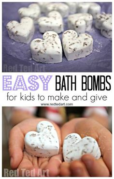 Bath Bomb Recipe - Gifts Kids Can Make! Homemade Bath Bombs are one of our favourite gifts to make and give for kids. This DIY Bath Bomb recipe is quick and easy and makes a great Christmas gift for mum, grandparents and teachers. Learn how to make Bath Bombs today!