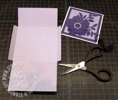 Stampin up designer series paper 4 x 4 envelope simply scored