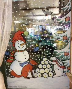 Kuvahaun tulos haulle ikkuna maalaus Advent Calendar, Snoopy, Holiday Decor, Fictional Characters, Home Decor, Art, Art Background, Decoration Home, Room Decor