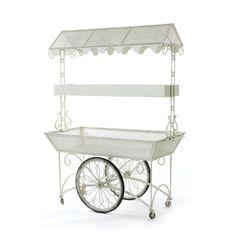 an adorable flower cart!