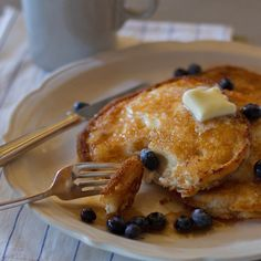 An easy recipe for made-from-scratch, gluten-free almond flour pancakes that are ready in less than half an hour.