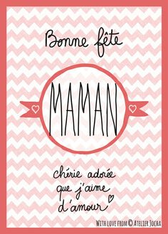 1000 images about bonne f te maman on pinterest family theme paper packs and mother 39 s day. Black Bedroom Furniture Sets. Home Design Ideas