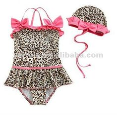 New 2015 Baby Swimsuit Infant Girls Toddler Swimwear Kids Bathing Suit One-Piece Leopard Bikini hat biquini infantil Costume Baby Bikini, Baby Girl Swimwear, Baby Girl Swimsuit, Kids Swimwear, Bikini Swimwear, Summer Swimwear, Pink Swimsuit, Baby Outfits, Kids Outfits