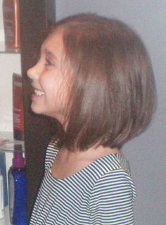 little girl hair cut. Love it. I hate stringy tangled girls hair even if its hereditary I'd fix it lol