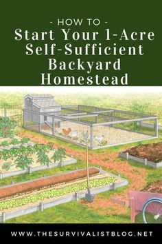 Contrary to popular belief you don't need a large plot of land to have a self-sufficient homestead. All you need is one acre and a plan. This is that plan - How to Start Your 1-Acre Self-Sufficient Backyard Homestead. #homestead, #homesteading, #preppers