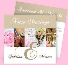 Faire-part mariage réf. N31142 chez monFairePart.com