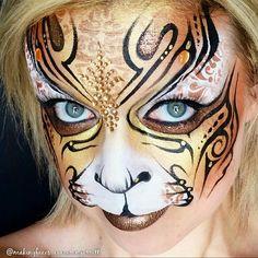 Go gold! Fantasy tiger by Cameron Garrett