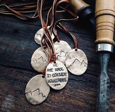"""""""We Are Made to Conquer Mountains"""" - Necklace from Christina Nicole Jewelry"""