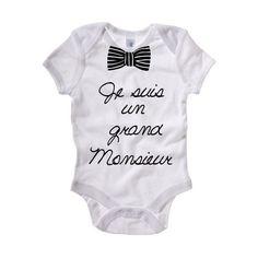 Body Blanc Garçon bébé motif Noeud Papillon de Swall-Shop sur DaWanda.com