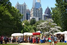 The Atlanta Dogwood Festival takes place in Piedmont Park each year. The Festival has been in existence for almost 80 years!