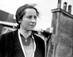 Hannah Arendt. Fue una filósofa política alemana.