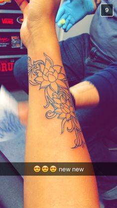 Lotus flower tattoo to represent a new beginning.