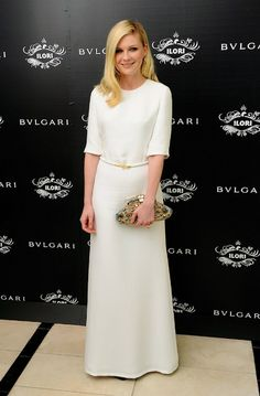 Who: Kirsten Dunst  What: Derek Lam Spring 2012 Dress  Where: Bulgari's Le Gemme Eyewear Collection Launch on October 4th,2011