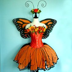 Fairy Costume  MONARCH BUTTERFLY costume  corset by FairyNanaLand