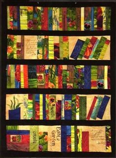 Garden Journal Bookshelf Quilt Pattern by Frond Design Studio