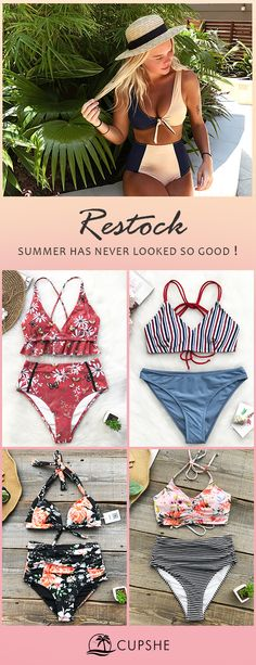 If you're looking to give one of this season's hottest swimsuit trends a try or just planning to restock your swim wardrobe with basics (without breaking the bank). Cupshe is your best choice! Free shipping~ Can't miss. :)