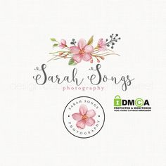 This Premade flower logo with logo stamp design would be perfect and affordable for your small business branding. It was created in adobe