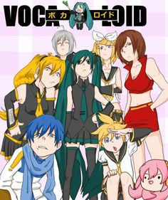 Vocaloid, Soul Eater style!  Miku - Maka/ Kaito - Soul/ Neru - Black Star/ Haku - Tsubaki/ Meiko - Death the Kid/ Rin - Liz/ Len - Patty