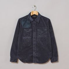 Engineered Garments CPO Shirt in Navy W8 Corduroy
