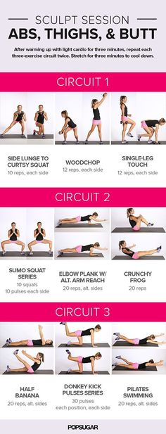 From warmup to cooldown, this quick workout is a little over 20 minutes, so it should be easy to fit into your busy day. In the first circuit, we recommend