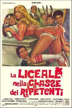 La liceale nella classe dei ripetenti (1978). Di Mariano Laurenti, con Gloria Guida, Alvaro Vitali e Lino Banfi.