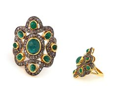 Wedding rings - 8.95g 0.73ct Nizam Diamond Jewelry Ring