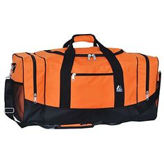 Everest Sporty Travel Duffel Bag Orange *** Details can be found by clicking on the image.