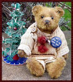 Old Teddy Bears, Antique Teddy Bears, Teddy Bear Toys, Love Bears All Things, Christmas Teddy Bear, Old Toys, Soft Colors, Vintage Toys, Goodies