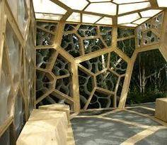 Pavillon Aus Holz Wabenform Innenausstattung | Architektur ... Holz Pavillon Wabenform