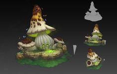mushroom, zhang Wen bo  on ArtStation at https://www.artstation.com/artwork/mushroom-0e87c377-7ee3-4628-a7d2-66007c967454