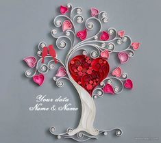 25 Beautiful Quilling Flower Designs and Paper Quilling Cards | Read full article: http://webneel.com/paper-quilling-cards-design-flower-art | more http://webneel.com/drawings | Follow us www.pinterest.com/webneel