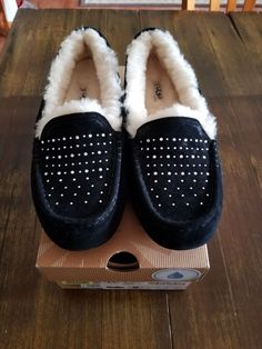 Cuddle Duds Soft Pull On Boot Slipper Cream Blue Bears Childs 7//8 or 9//10