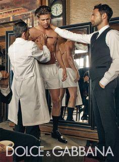 Adam Senn and Noah Mills on Dolce&Gabbana Campaing