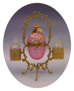 Wonderful Antique Pink Opaline Scent Vanity.