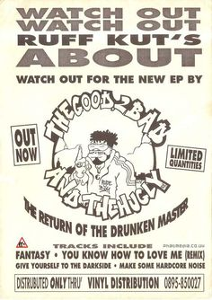 Browse through our old skool galleries from Acid House to Happy Hardcore, signup to upload your own flyer scans and join the community. Drunken Master, Hardcore Music, Punk Poster, Graffiti Font, Acid House, Tee Design, Graphic Design Inspiration, How To Know, Zine