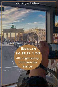 Wer mit der Buslinie 100 Berlin erkundet, sieht die wichtigsten Sehenswürdigkeiten der Hauptstadt. Denn die öffentliche Linie 100 bedient die gleiche Route wie viele Hop On Hop Off Busse und eignet sich daher perfekt, um bei einer Stadtrundfahrt Berlin kennenzulernen. Alle Infos für eure Berlin Bus Tour! Die macht im Doppeldeckerbus übrigens auch Kindern Spaß. #berlin #buslinie100 #stadtrundfahrt  #sightseeing #hoponhopofbus #berlinreise #städtereise #sehenswürdigkeiten #berlinmitkindern Berlin Bus, Tour Berlin, Sightseeing Bus, Tours, Tricks, Places, Most Romantic Places, Lugares