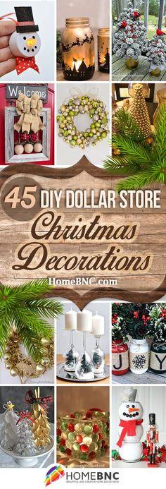 DIY Dollar Store Christmas Decorations
