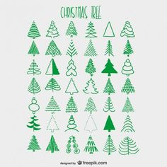 Christmas Tree Illustration * soo many kinds of a Christmas tree / fir tree … - Modern Christmas Tree Illustration, Christmas Tree Sketch, Christmas Doodles, Noel Christmas, All Things Christmas, Winter Christmas, How To Draw Christmas Tree, Christmas Tree Graphic, Christmas Graphic Design