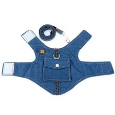 Denim Small Dog Harness Vest and Leash Set Adjustable Pet Dog Harness Leads to Go Cat Leash Chihuahua S M L - Cats and Dogs House Dog Vest, Dog Jacket, Pet Puppy, Pet Dogs, Pets, Cat Leash, Dog Clothes Patterns, Dog Items, Pet Fashion
