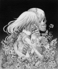 "shardula: ""Loved to Death"", graphite drawing by May Ann...would make amazing tattoo"