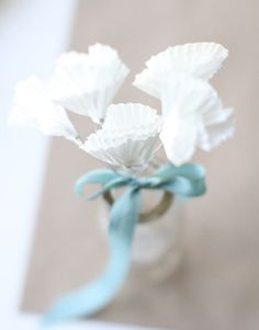 Paper Flower Bouquet Tutorial with Mini Cupcake Liners