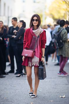 A sign of fall - all the wine and burgundy shades on the streets | StockholmStreetStyle